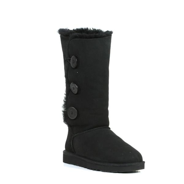 Ugg Women's Black Bailey Button Triplet Boots