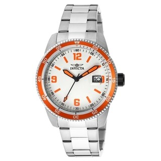 Invicta Men's Large Pro Diver Automatic White Dial Stainless Steel Date Watch