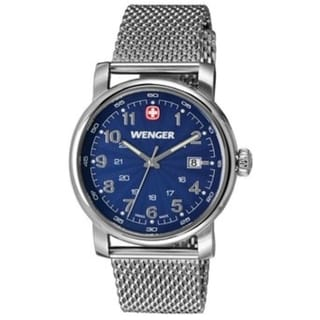 Wenger Urban Classic Blue Dial Stainless Steel Bracelet Date Men's Watch