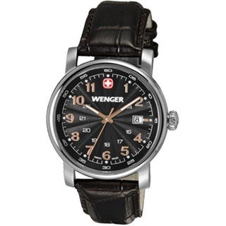 Wenger Men's Urban Classic Analog Swiss Quartz Date Black Watch
