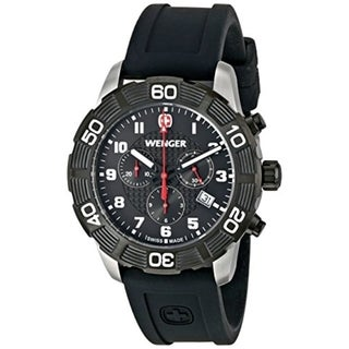 Wenger Chronograph Men's Roadster Swiss Silicone Date Watch