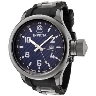 Invicta Men's Russian Diver X-large Blue Dial Polyurethane Date Watch