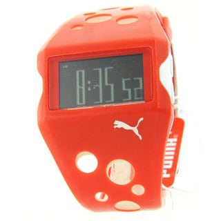 Puma Men's Sporty Rubber Multifunction Digital Flow Watch