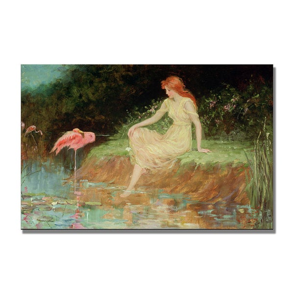 Frederick Church 'A Trusting Moment' Canvas Art