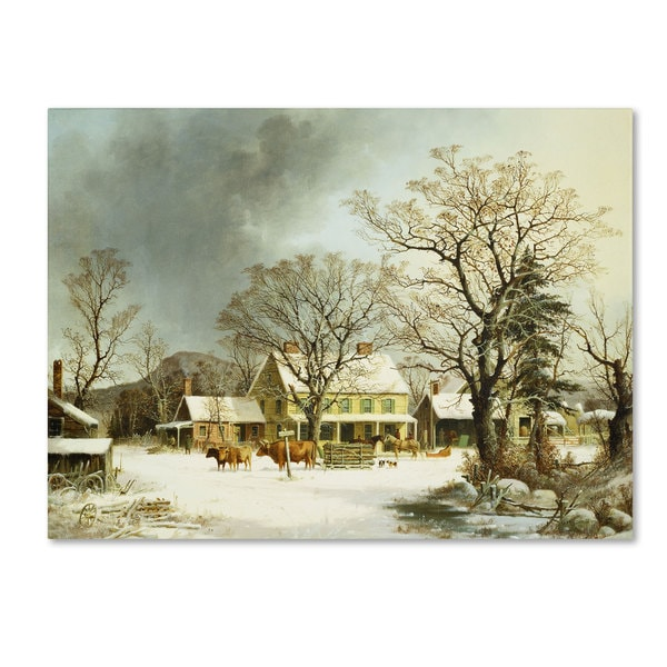 George Durie 'Seven Miles to Salem 1863' Canvas Art