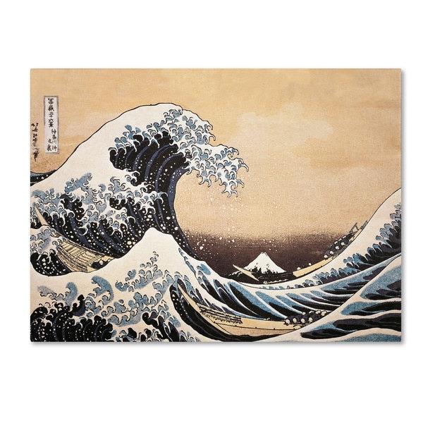 Katsushika Hokusai 'The Great Wave off Kanagawa' Canvas Art