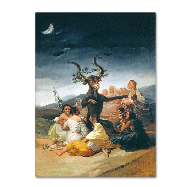 Francisco Goya 'The Witches' Sabbath 1797-98' Canvas Art