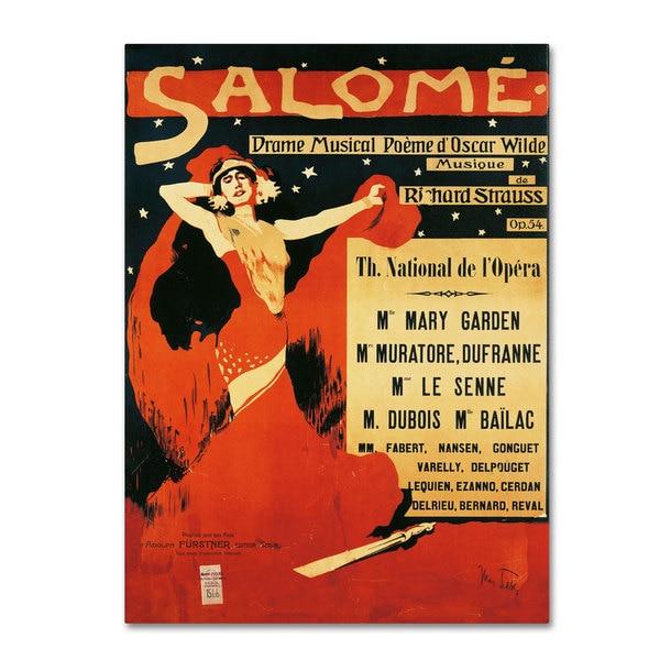 Richard Strauss 'Poster of Opera Salome 1910' Canvas Art