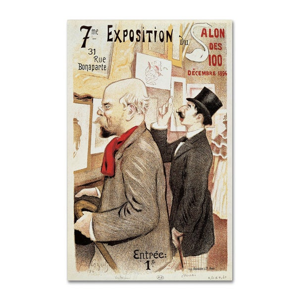 'Poster of Paul Verlaine and Jean Moreas' Canvas Art