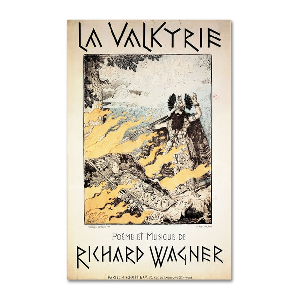 Richard Wagner 'Poster of the Valkyrie' Canvas Art