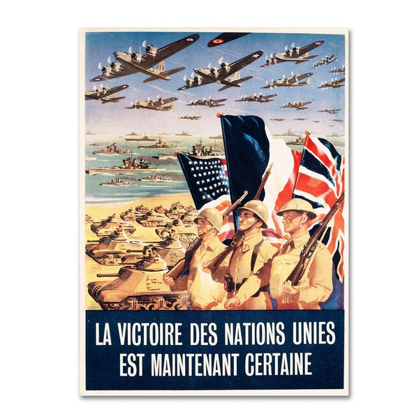 'French Propaganda Poster from World War II' Canvas Art