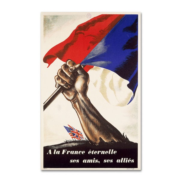 'Poster for Liberation of France' Canvas Art
