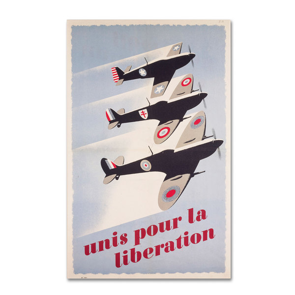 'Propaganda Poster for Liberation' Canvas Art