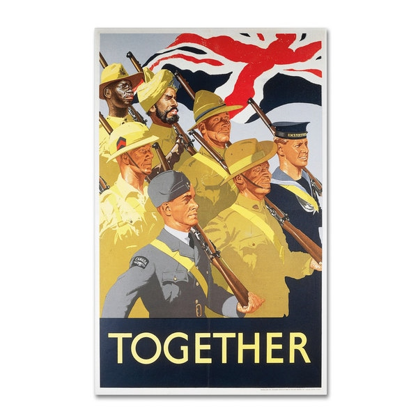 'Second World War Together Propaganda Poster' Canvas Art