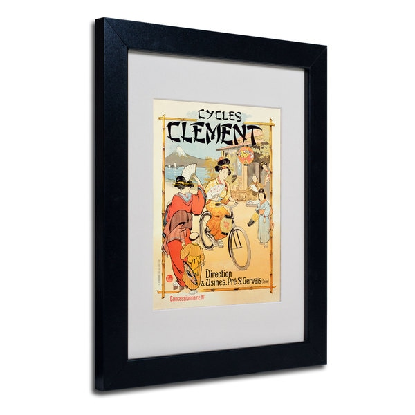 Cycles Clement' White Matte, Black Framed Wall Art