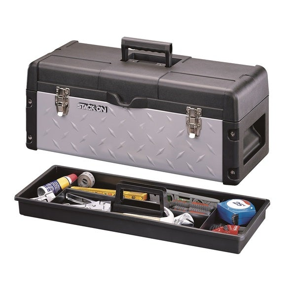 Stack-On 26-inch Professional Tool Box with Tread Plate Design