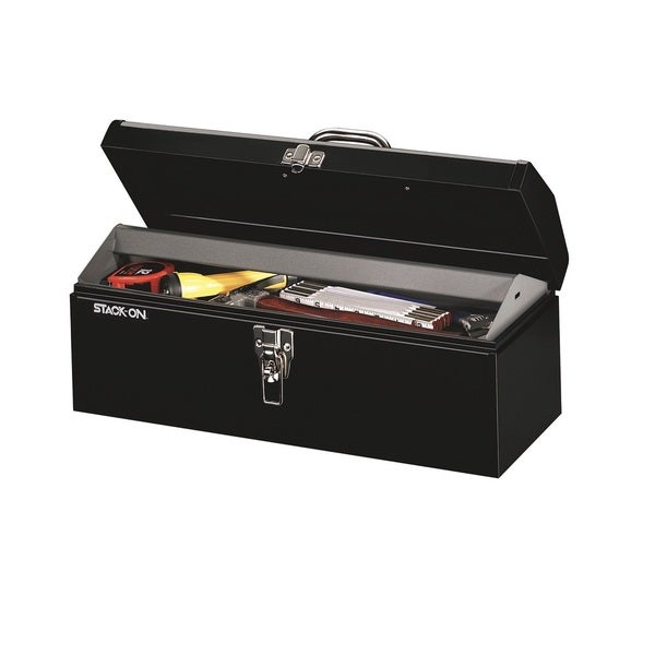Stack-On 19-inch Multi-Purpose Hip Roof Tool Box, Black 16088043
