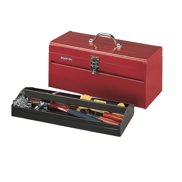 Stack-On 20-inch Pro/ Contractor Steel All Purpose Tool Box-Red