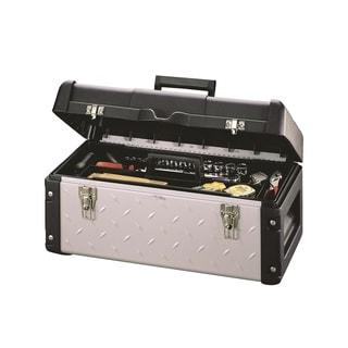 Stack-On 22-inch Professional Tool Box with Tread Plate Design