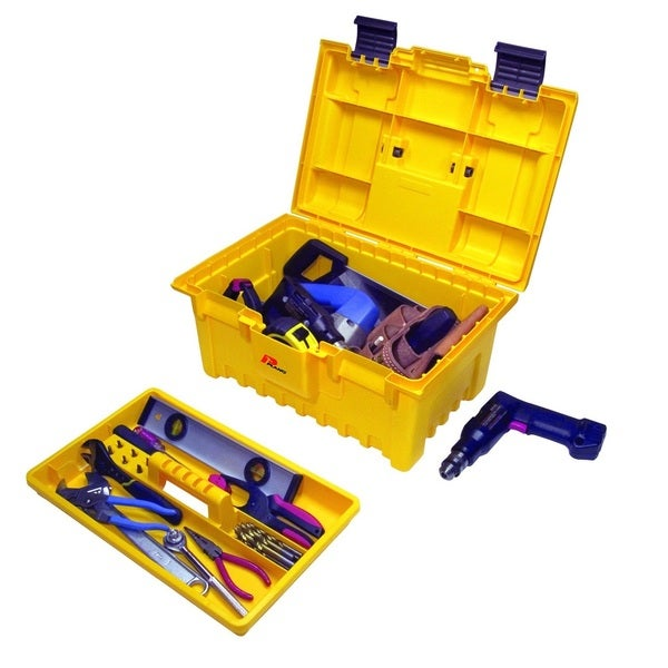 Plano 19-inch Power Tool Box with Lift-Out Tray, Yellow