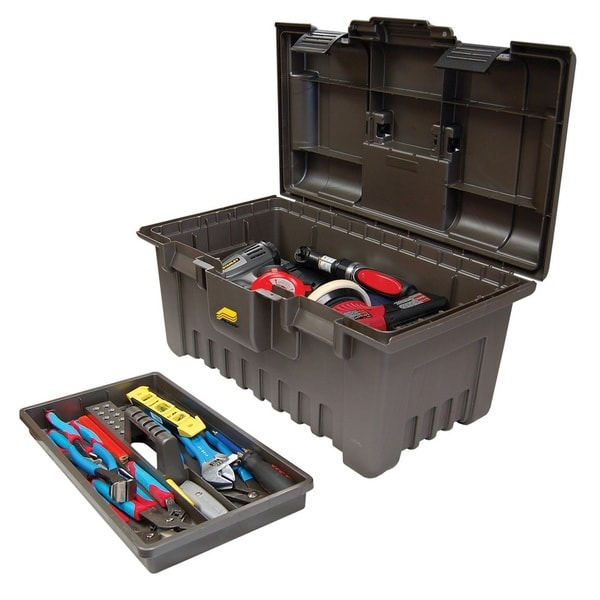 Plano 22-inch Power Tool Box with Lift-Out Tray, Grey