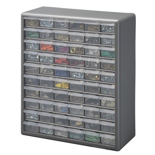 Stack-On 60 Bin Plastic Drawer Cabinet