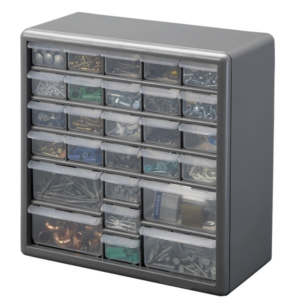 Stack-On 27 Bin Plastic Drawer Cabinet