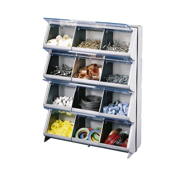 Stack-On 12 Compartment Clear View Storage Bin