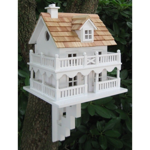 Novelty Cottage Birdhouse With Bracket