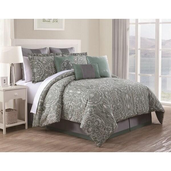 Clara Cotton Print 9-piece Comforter Set