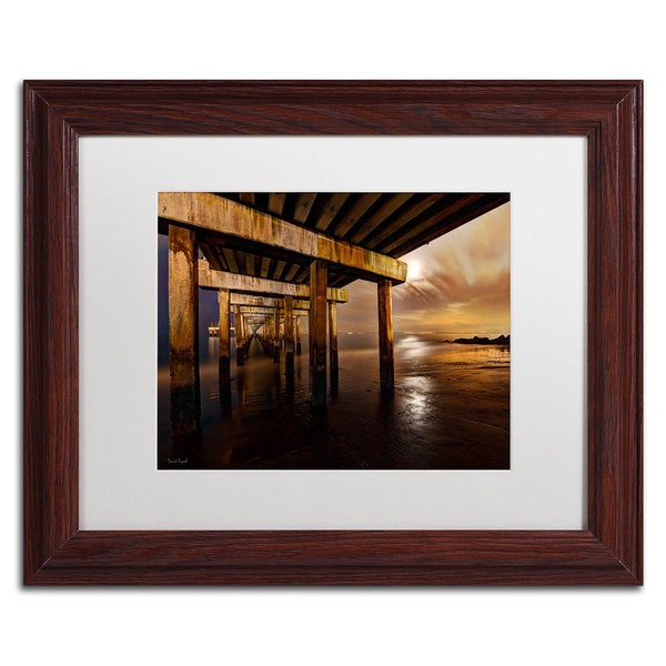 David Ayash 'Coney Island - Brooklyn, NY II' White Matte, Wood Framed Wall Art