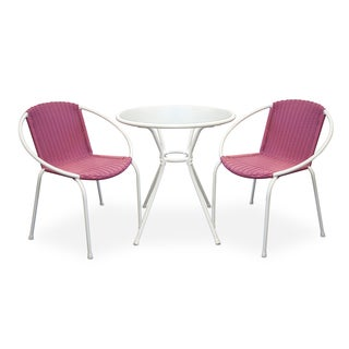Somette Portico Pink 3-Piece Patio Set