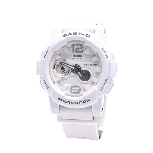 Casio Women's BGA180-7B1 Baby-G White Watch