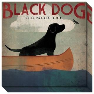 Ryan Fowler 'Black Dog Canoe' Gallery Wrap Canvas 20 x 20-inch