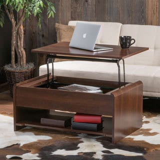 Christopher Knight Home Nathaniel Wood Lift-Top Storage Coffee Table