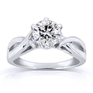 Annello 14k White Gold 1ct Diamond Solitaire Engagement Ring (H-I, I1-I2)