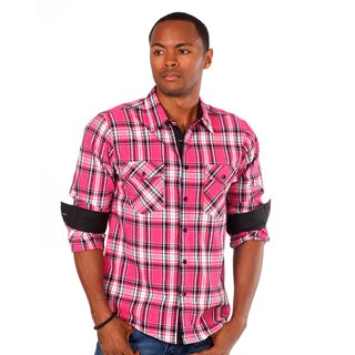 Something Strong Men's 'Something Blazon' Plaid Shirt in Pink