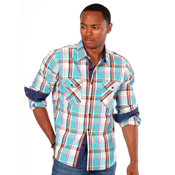 Something Strong Men's 'Something Blazon' Plaid Shirt in Blue