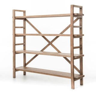 Solid Reclaimed Pine Rustic Bookcase