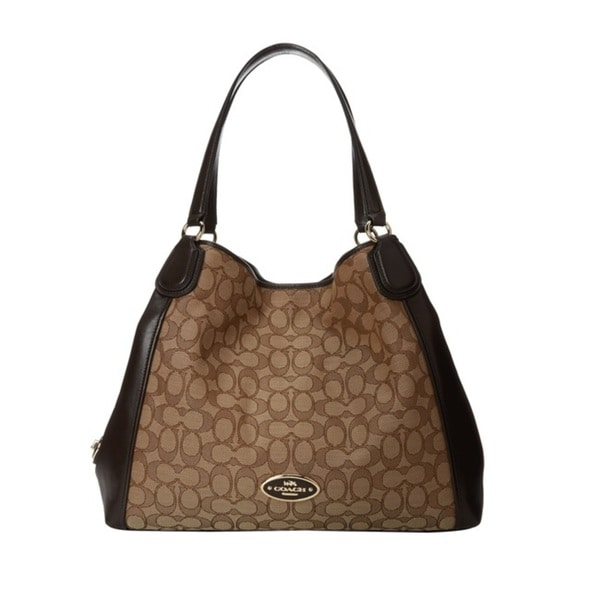 Coach Signature Edie Shoulder Bag