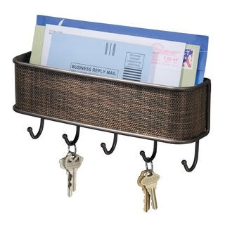 InterDesign Wall Mount Mail and Key Rack
