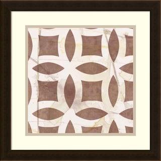 Jennifer Goldberger 'Custom Marsala Metric Link VI (ST)' Framed Art Print 18 x 18-inch