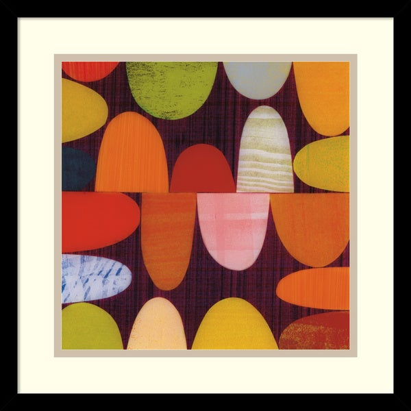 Rex Ray 'Sugarplum (detail)' Framed Art Print 17 x 17-inch 16089403