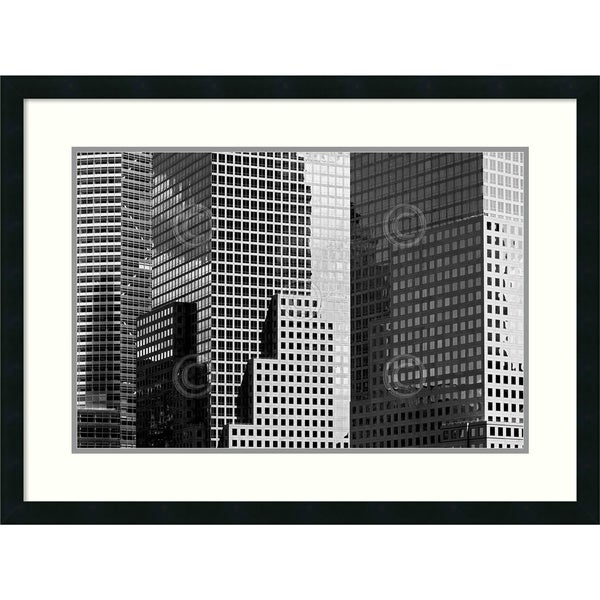 Jeff Pica 'Metro 1043' Framed Art Print 32 x 24-inch