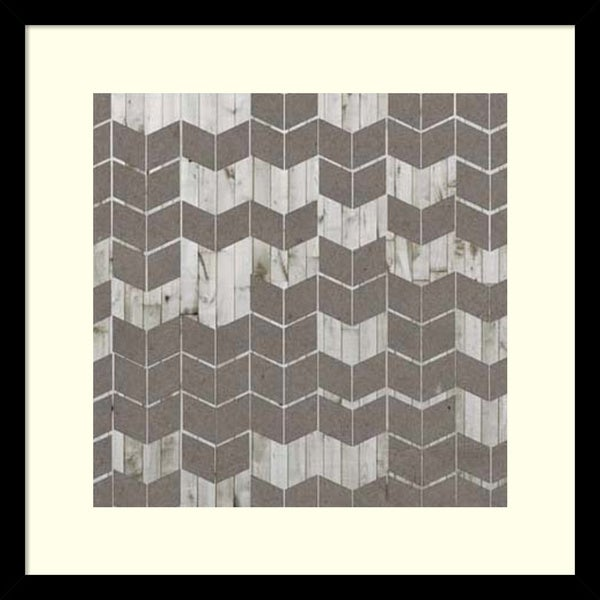 Jennifer Goldberger 'Chevron Cut Out II' Framed Art Print 17 x 17-inch 16089423