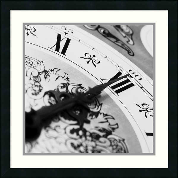 PhotoINC Studio 'Clockwork 1' Framed Art Print 22 x 22-inch