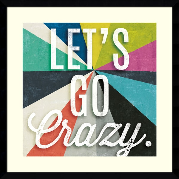 Michael Mullan 'Triangulawesome Color II : Lets go Crazy' Framed Art Print 21 x 21-inch