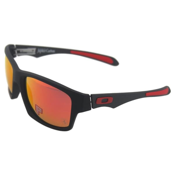 Oakley Scuderia Ferrari Jupiter Carbon OO9220-06 - Matte Black/Ruby Iridium Polarized