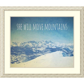 Natasia Cook 'She Will Move Mountains' Framed Art Print 39 x 33-inch