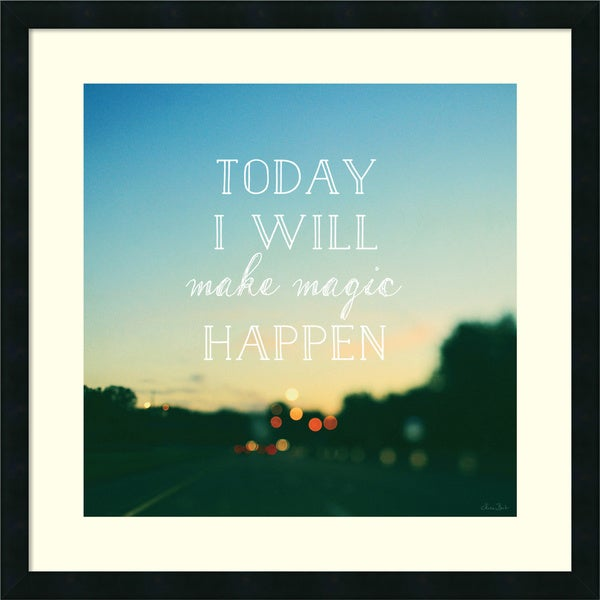 Alicia Bock 'Today I Will Make Magic' Framed Art Print 26 x 26-inch